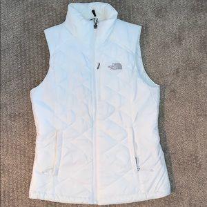 North Face white Vest